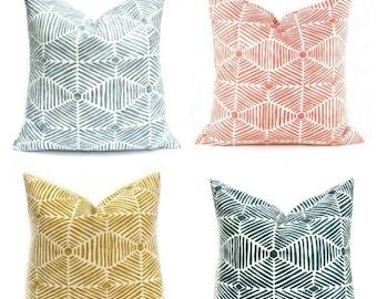 15% Off Sale Decorative Pillow Cover , Throw pillow cover  Blue Pillow yellow throw pillow Navy Pillow, Geometric Pillow, Designer pillow, F