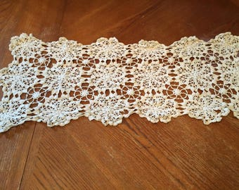 Rectangular Open Crocheted Table Runner