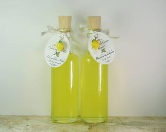 100  Limoncello Bottles Limoncello Favors Limoncello Tags Lemon Charms Corks 3.5oz 100ml Limoncello Bottles Empty Bottle Clear Glass Bottle