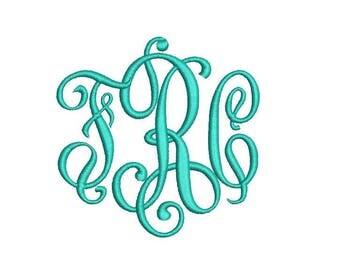 Heirloom Monogram Embroidery Font Set - Instant Download