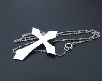 Silver gothic cross