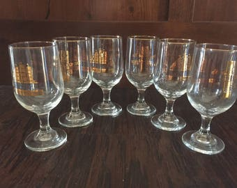 Vintage Set of Six Special Export Pilsners - Heileman's Special Export Glasses - Pilsner Glasses - Bar Decor - Special Export - Beer Glasses