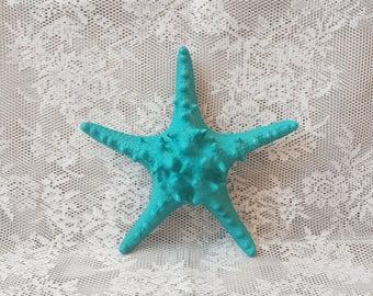 Large Starfish Wall Hanging Decor, Teal Blue Starfish Home Decor, Beach  House Decor Coastal