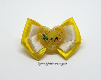 Pippa Lemon Hair Bow