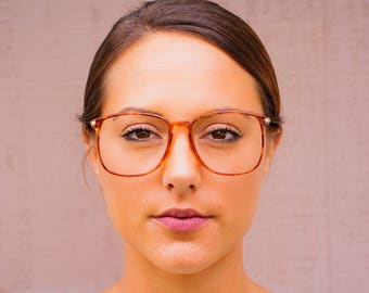 Vintage Eyeglass 1990's Over size by Liz Gant New Old Stock Very Cute  Tortoiseshell Made In Japan