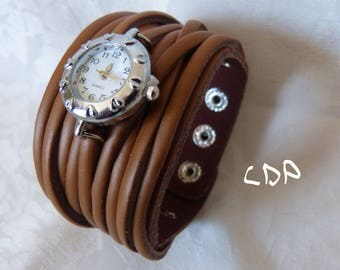 Watch cuff multi leather cords