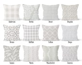 French Grey Pillow Cover, Decorative Throw Pillow Covers, Euro Pillow Sham 16 x 16, 18 x 18, 20 x 20, 22 x 22, 24 x 24, 26 x 26