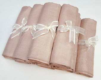 8 SET NUDE ( light beige) PASHMINA ShawlL. Nude Shawl. Bridesmaid gifts. Bridesmaid shawls. Pashmina Scarf. Wedding favor.