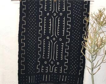 African Mud cloth fabric    Black Mudcloth Throw African Mudcloth Fabric Authentic Mudcloth Textile Bogolanfini Tribal Fabric Tribal Pattern