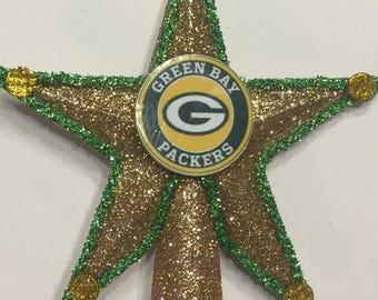 Green Bay Packers Mini Tree Topper