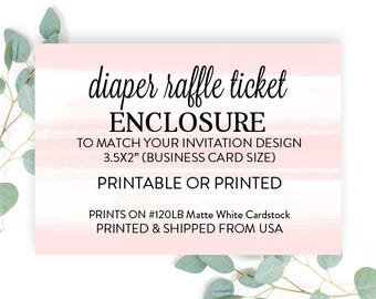 Diaper Raffle Tickets Made to Match any design, Baby Shower Insert, Baby Shower Enclosure Card, Raffle Ticket - Printed or DIY Printable,