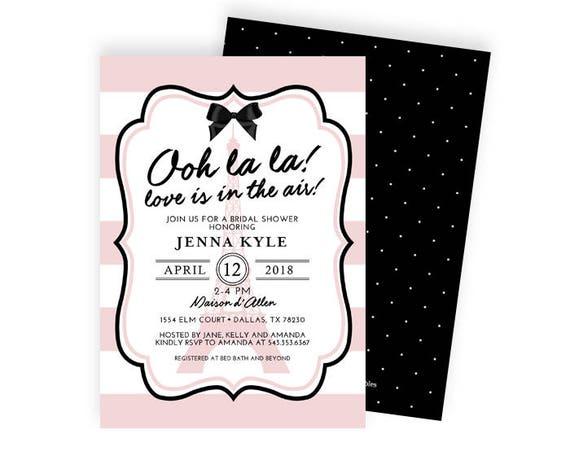 Ooh la la french theme bridal shower invitation paris theme bridal il570xn filmwisefo