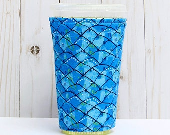 Medium Mermaid Day Coffee Cozy, Mermaid Tails, Misty Silver, Iced Coffee Cozy, Cup Sleeve, Eco Friendly, Insulated Cup Sleeve,