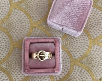 Antique vintage gold buckle ring 9kt