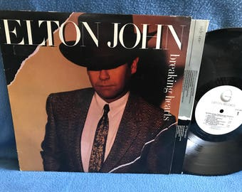 "Vintage, Elton John - ""Breaking Hearts"", Vinyl LP, Record Album, Original First Press, Slow Down Georgie (She's Poison), Rock"