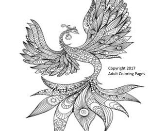 Animal Coloring Page Item 2, Printable Coloring Page, Instant Download Adult Coloring Page.
