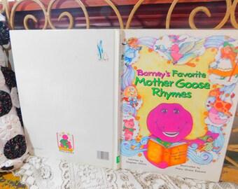 Barney Favorite Mother goose Rhymes, Barney, Vintage Childrens Book