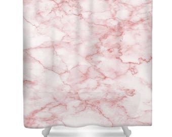 pink grey shower curtain. Pink shower curtain  marble pink bathroom girl and white curtains Etsy