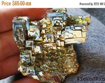 NOW ON SALE Bismuth Crystal Cluster,  bismuth crystal,  large bismuth, bismuth cluster