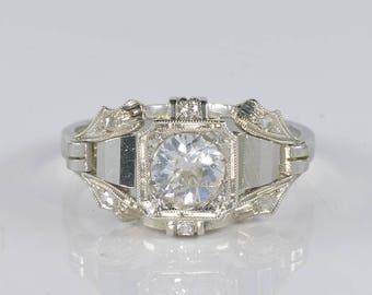 Stunning Art Deco .65 Ct solitaire diamond ring