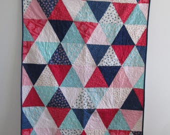 Equilateral Triangle Lap Quilt