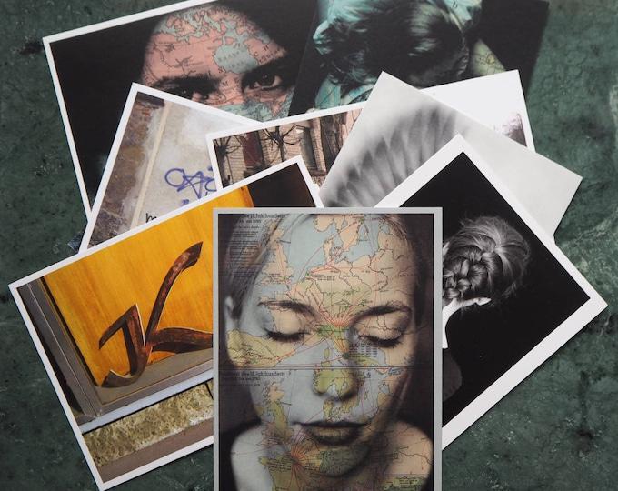 Set of 10 POSTCARDS  home decor, streetart, art, photography, graffiti