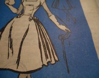 Vintage 1950's Mail Order Prominent Designer Scaasi Dress Sewing Pattern Size 16 Bust 36