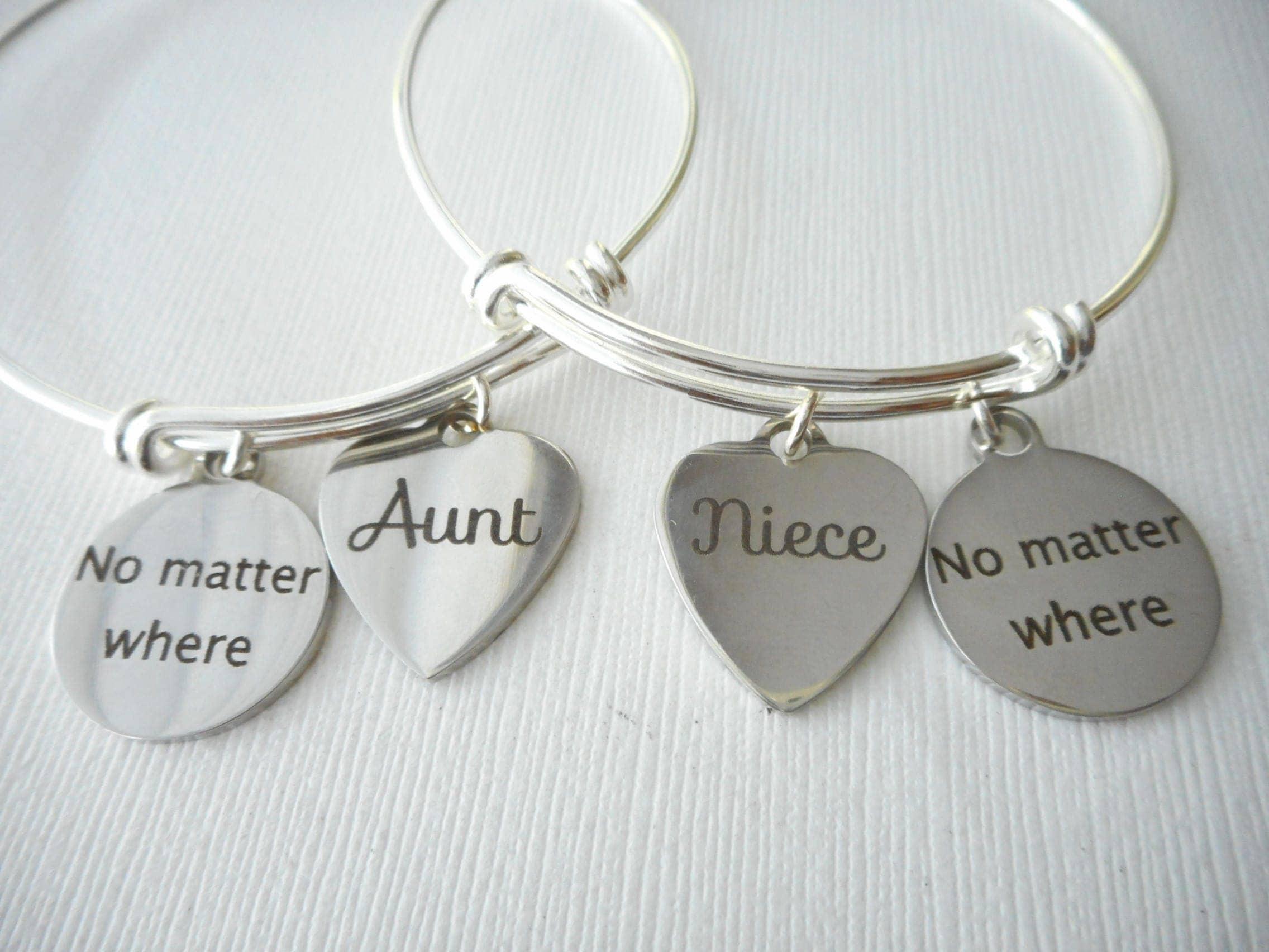 aunt niece friends bracelets niece and aunt set aunt and niece