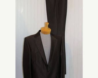 On Sale 50% OFF NWT Vintage Men's Brown Pagano West Tailored Apparel Western Suit Jacket Blazer Coat Pants Size 42L Made in Usa