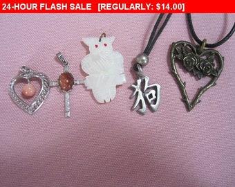 Vintage pendant lot for craft, repurpose, destash