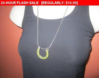 Vintage rhinestone horseshoe pendant necklace, estate jewelry