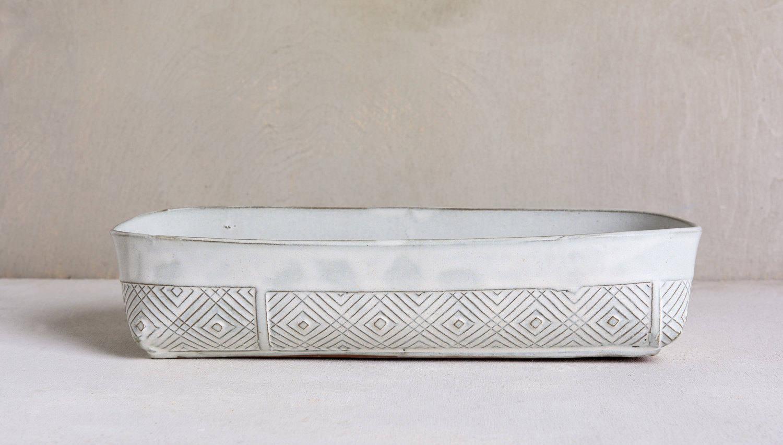 White Baking Dish Ceramic Baking Dish Lasagna Dish White