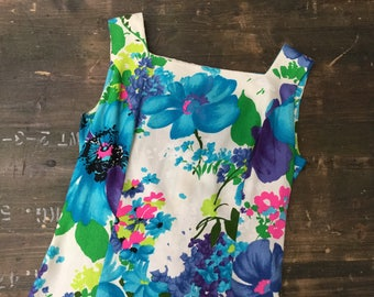 Floral Evening Dress With Train