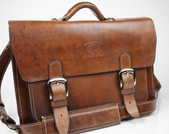 "Leather Messenger Bag,  Leather Briefcase, Leather shoulder bag, Macbook Pro, 15"" 180"