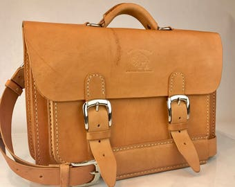 "Leather Briefcase Leather Satchel Leather Messenger Bag fits Macbook Pro 13"" 134"