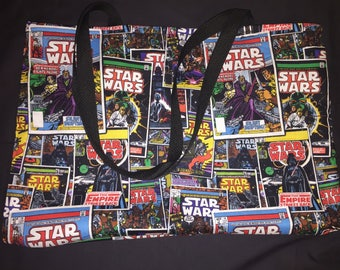 Star Wars Comic Book Covers Cotton Fabric Bag