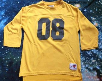 Vintage Tommy Hilfiger 3/4 Sleeve Crop Top Jersey T-Shirt