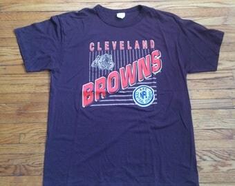 Vintage Cleveland Browns AFC Central Division NFL Football T-Shirt
