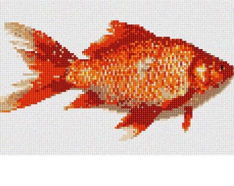 Needlepoint Kit or Canvas: Goldfish