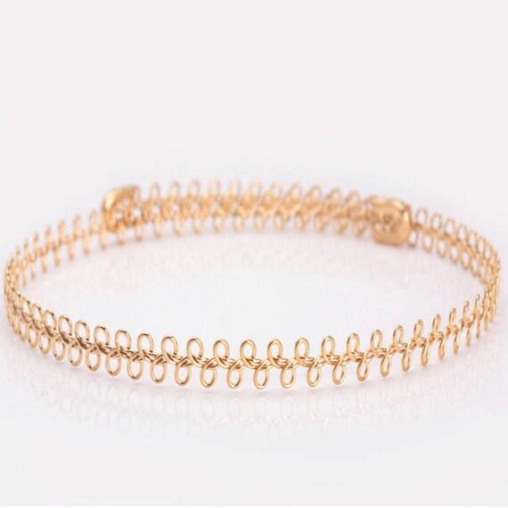Silver Choker Necklace, Gold Choker, Dainty Choker Necklace, Layering Choker Necklace, Gold Adjustable Choker Necklace, Minimalist Choker