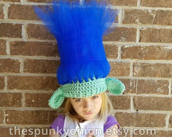 Trolls hair hat