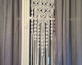Macrame curtain made by hand