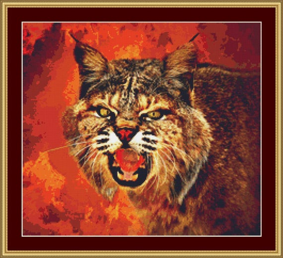 Lynx Cross Stitch Pattern /Digital PDF Files /Instant downloadable