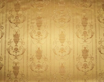 KOPLAVITCH POMPEII DREAMS Neoclassical Toile Damask Fabric 10 yards Gold