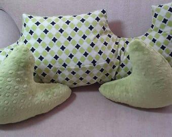 Mastectomy Pillows/ A set of three /comfort healing pillows.Breast cancer awareness/ mastectomy pillow set