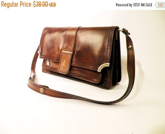 SALE Vintage Genuine Leather Bag