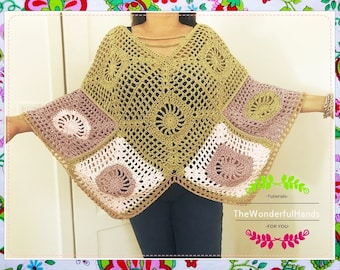 Ponchetito Crochet Pattern /Small , Medium/XXL/XXXL Sizes