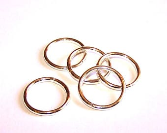 5 large rings 20 mm plated silver 10 microns for jewelry making
