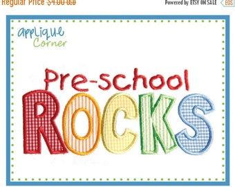 40% OFF 657 Preschool ROCKS applique design digital for embroidery machine by Applique Corner