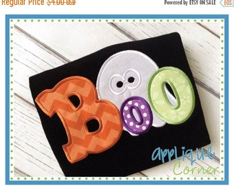 40% OFF 105 Trick or Treat Halloween BOO with Ghost applique digital design for embroidery machine by Applique Corner